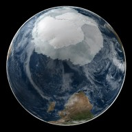 Global View of the Arctic and Antarctic on September 21, 2005