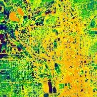 Zoom and Spin around Atlanta: Nighttime Thermal view of the Heat Island