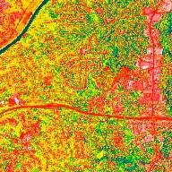 Zoom and Spin Around Atlanta: Daytime Thermal View of the Heat Island