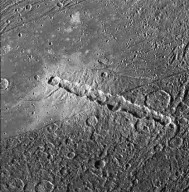 Ganymede: Torn Comet - Crater Chain
