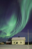 Green and Black Aurora Over Norway