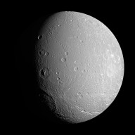Unusual Cratering on Saturn's Dione