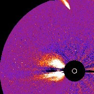 Comet Hyakutake and a Solar Flare