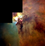 "Giant ""Twisters"" and Star Wisps in the Lagoon Nebula"