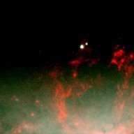 Burst of Star Formation Drives Bubble in Galaxy's Core