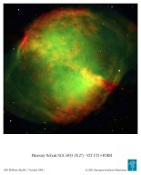 Close-up of M27, the Dumbbell Nebula