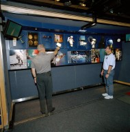 Benefits of Space Technology Exhibit on Tractor-Trailer Truck Located In Galveston, Texas