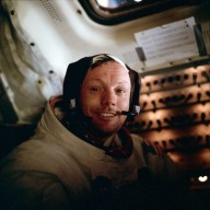 Apollo 11 Mission image - Neil A. Armstrong inside the Lunar Module after EVA