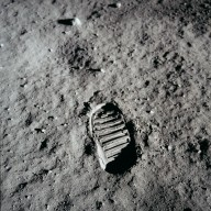 Apollo 11 Mission image - Astronaut bootprint on the lunar surface
