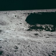 Apollo 11 Mission image - Lunar surface and horizon
