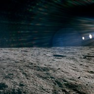 Apollo 12 Mission image - Panoramic view of lunar surface around the Lunar Module LM