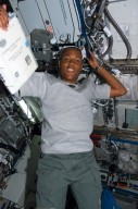 View of Drew in the US Lab during STS-118/Expedition 15 Joint Operations