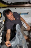 Williams working in the A/L during STS-118/Expedition 15 Joint Operations