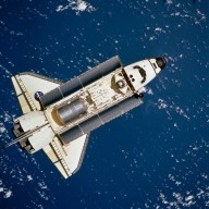STS-100 orbiter Endeavour approaching ISS for docking