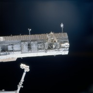 View of the S1 truss taken during STS-113