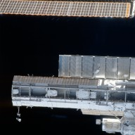 View of the P1 truss and STBD PV SA taken during STS-113