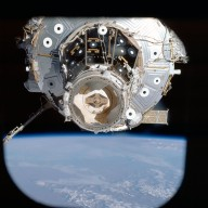 View of PMA 2 and U.S. Laboratory taken during STS-113