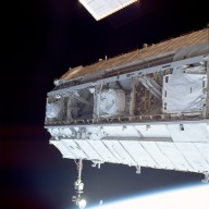 Overall view of the S1 truss taken STS-113