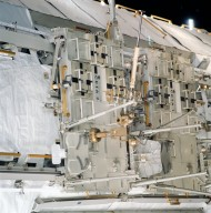 CETA carts on the P1 truss during STS-113
