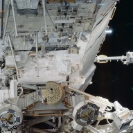 MBS and CETA cart 1 on the P1 truss during STS-113