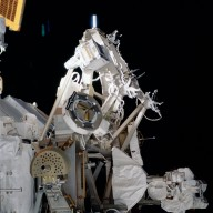 View of the MBS on the P1 truss during STS-113
