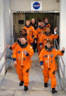 STS-114 crew at KSC