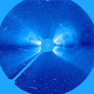 LASCO C3 image of the large coronal mass ejection (CME) of 6 May 1998.