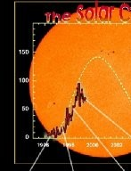 """The sun?s 11 year solar cycle as reflected by the number of sunspots recorded to date and as projected (dotted line). Selected EIT 195Å and MDI magnetogram images are shown. In this cycle the Sun undergoes a period of activity called the """"solar maximum"""", followed by a period of quiet called the """"solar minimum."""" The rising level can be clearly seen in the comparison of EIT and MDI images. The current cycle, Cycle 23, is the 23rd systematically recorded since sunspot observations began in the 17th century."""