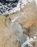 Texas-sized Dust Storm Sweeps over Egypt