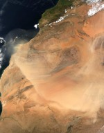 Central Africa Dust Storm