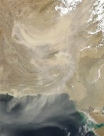 Dust Storm over Southern Asia