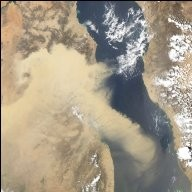 Saharan Dust over the Red Sea