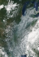 Haze Over the Midwestern United States