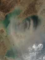 Dust Storm over the Yellow Sea