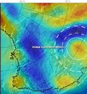 Mass Concentration in Antarctica