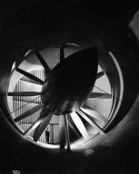 ALTITUDE WIND TUNNEL (AWT) PUBLICITY WITH MODEL INTERIOR THROAT SECTION C-3995 IS CS-11116