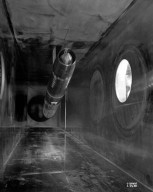 16 INCH RAM JET IN TEST SECTION OF 8X6 FOOT SUPERSONIC WIND TUNNEL