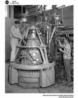 FLOW DISTURBANCE DEVICE AND THRUST CHAMBER SETUP AT THE ROCKET ENGINE TEST FACILITY RETF AT SOUTH 40 AREA