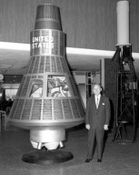 PROJECT MERCURY - DISPLAY AT CLEVELAND HOPKINS AIRPORT COMMANDER DONALD PATRICK - DIRECTOR OF PORT CONTROL WILLIAM ROGERS - HERBERT BRECKMACHER MANAGER OF CENTRAL NATIONAL BANK AT CLEVELAND HOPKINS AIRPORT - MORGAN LAUER MANAGER OF OPERATIONS