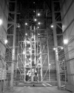 AEROBEE 4.38 ROCKET POSITIONED IN TOWER AT WALLOPS ISLAND