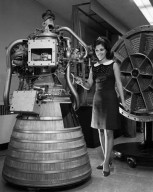MIS NASA 1968 / 1969 WITH RL-10 ENGINE DISPLAY IN ROCKET OPERATIONS BUILDING ROB CONTROL ROOM