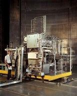 BRAYTON ENGINE AND ITS COMPONENTS IN SPACE POWER FACILITY SPF AT NASA PLUM BROOK STATION