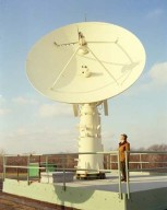 COMMUNICATION TECHNOLOGY SATELLITE CTS GROUND STATION TRACKING ANTENNA AT THE 8X6 FOOT WIND TUNNEL