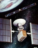 EXTENDED PERFORMANCE SOLAR ELECTRIC PROPULSION MODULE WITH SPACECRAFT AND SOLAR ARRAY