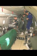 SPACE ACCELERATION MEAUSREMENT SYSTEM SAMS IN-FLIGHT ON DC-9 AIRPLANE