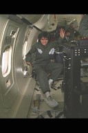 SPACE ACCELERATION MEASUREMENT SYSTEM SAMS IN-FLIGHT ON DC-9 AIRPLANE