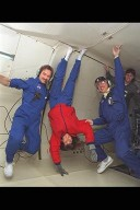 DC-9 AIRPLANE FLIGHT WITH COMBUSTION MODULE 1 CM-1 EXPERIMENT AND ASTRONAUTS