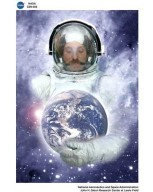CONCEPT IMAGE ASTRONAUT HOLDING THE EARTH