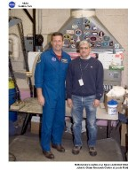 astronaut visit of facilities and personnel that contributed to the Return to Flight research testing of RCC carbon panels