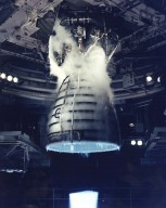Close-up of a Space Shuttle Main Engine test